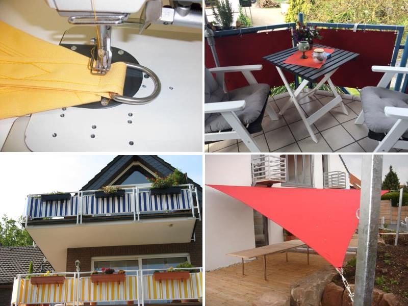 mini garten auf dem balkon sonnensegel. Black Bedroom Furniture Sets. Home Design Ideas